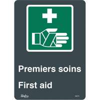 """Premier Soins/First Aid"" Pictogram Sign SGM778 
