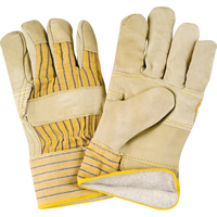 Grain Cowhide Fitters Cotton Fleece-Lined Patch Palm Gloves SDL881 | Zenith Safety Products