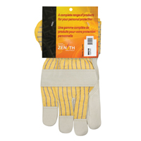 Grain Cowhide Fitters Cotton Fleece-Lined Patch Palm Gloves SR521R | Zenith Safety Products